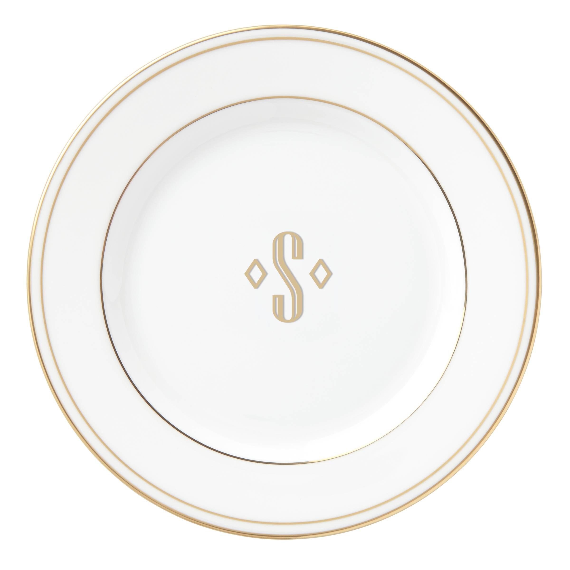 Lenox Federal Gold Block Monogram Dinnerware