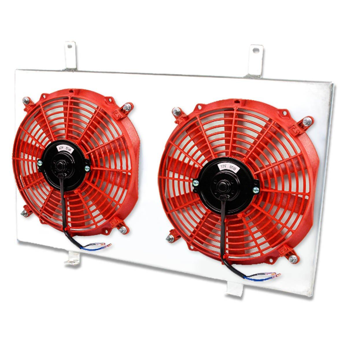 For Nissan Maxima/Infiniti I30 MT Aluminum Bolt-on Cooling Radiator Fan Shroud (Red) - 4th Gen A32 VQ30