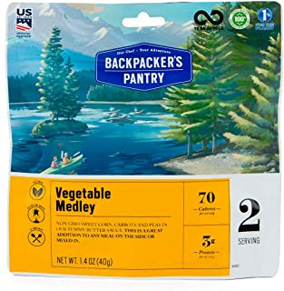 product image for Backpacker's Pantry Vegetable Medley, 2 Servings Per Pouch, Freeze Dried Food, 13 Grams of Protein, Vegetarian
