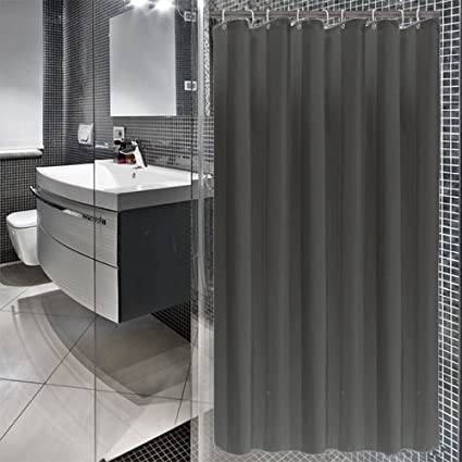 Amazon 36x72 Inch Modern Solid Charcoal Shower Curtain Mildew