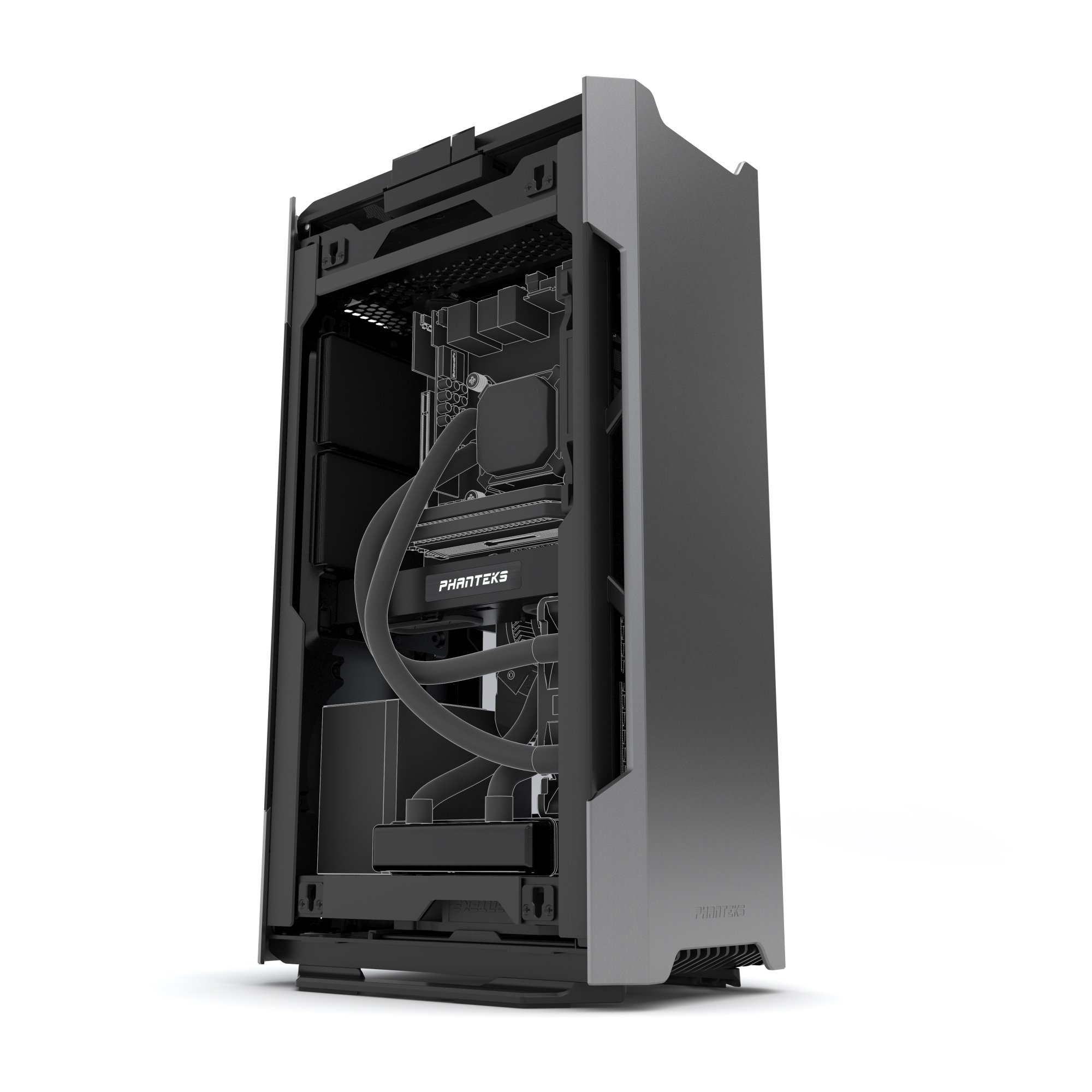 Phanteks PH-ES217E_AG EVOLV SHIFT Mini ITX Dual Tempered Glass for AIO water cooling Anthracite Gray Cases by Phanteks (Image #7)