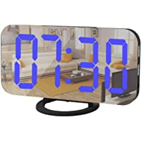 Digital Alarm Clock,Mirror Surface LED Electronic Clocks,with USB Charger,Snooze Model, Auto/Custom Brightness,for…