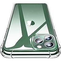 Garegce Coque iPhone 11 Pro Max (2019) + 2 Pack Verre trempé Protecteur, Transparent Silicone [Antichoc Bumper], Souple TPU Protection Case Cover pour iPhone 11 Pro Max(6.5 Pouces)- Clair