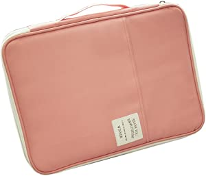 iSuperb A4 Documents Bag Multifunction Files Organizer Messenger Handbag Storage for Travel Office 13.4x9.8x1.4 inch