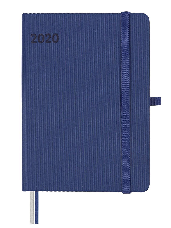 Finocam Agenda 2020 semana vista apaisada M/ínimal Textura Azul espa/ñol