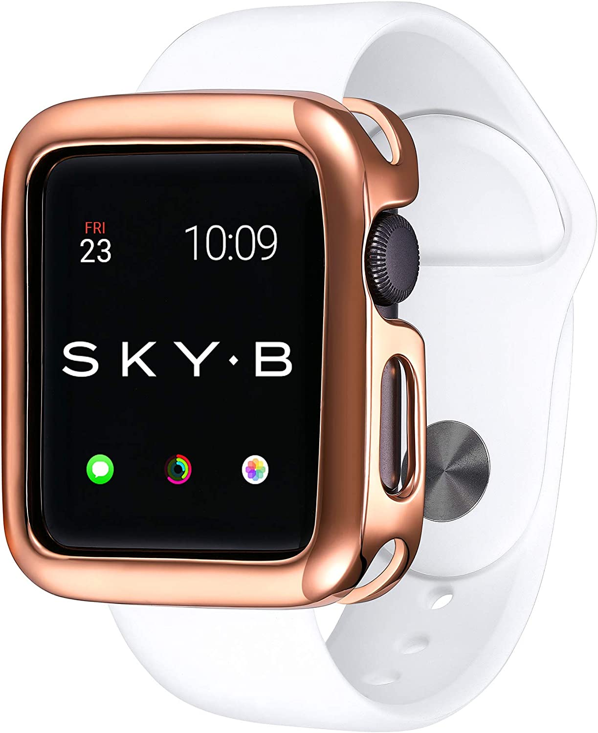 SKYB Minimalist Rose Gold Protective Jewelry Case for Apple Watch Series 1, 2, 3, 4, 5 Devices - 38mm