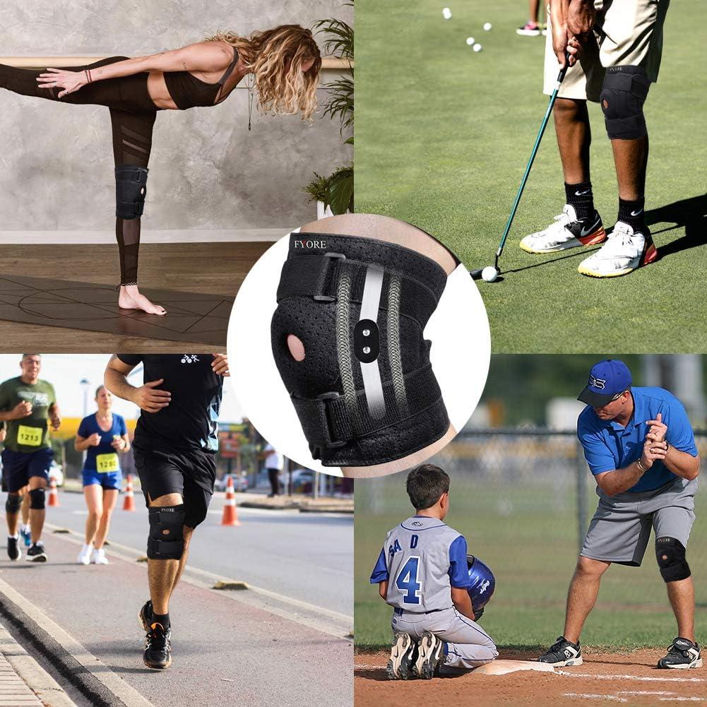 Protection pour Course /à Pied Souple et Respirante Paire de genouill/ères de Protection Genouill/ère Rotulienne et Ligamentaire Attelle de Genou Support Course Jogging Exercice Ajustable Unisexe