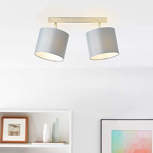 Moderna lámpara de techo con pantalla de tela, 60 cm de