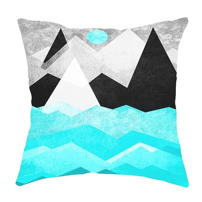 QINGXIA_ZI Fundas de cojín para sofá Textura de mármol geométrica Throw Pillow Case Funda de cojín Sofá Decoración para el hogar 45X45cm: Amazon.es: Hogar