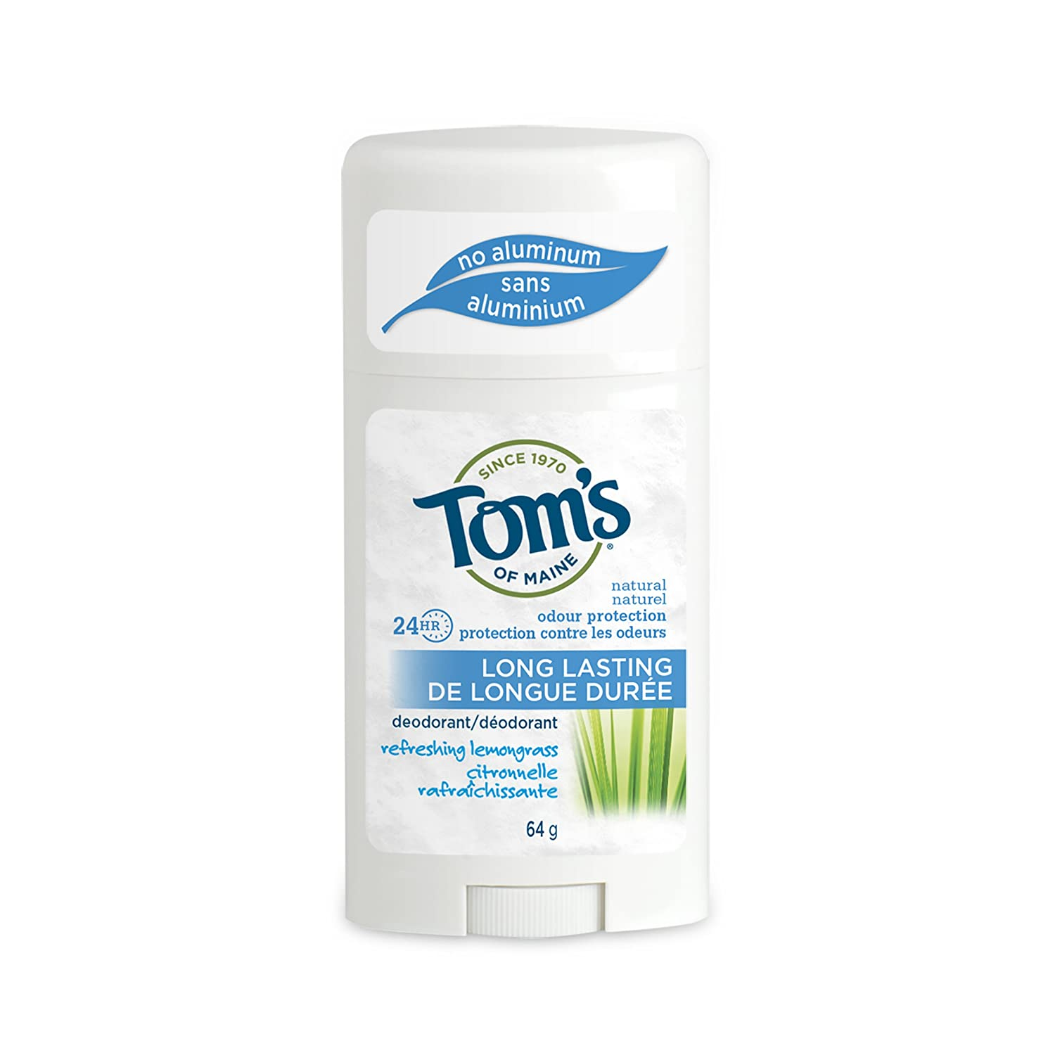 Tom's of Maine Lemongrass Deodorant Stick (Pack of 6) 60 ml (並行輸入品) B001FB5O7C