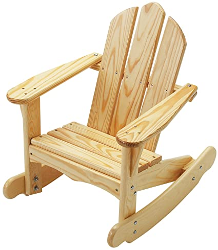 Delightful Little Colorado Childu0027s Adirondack Rocking Chair  Unfinished