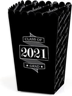 product image for Big Dot of Happiness Graduation Cheers - 2021 Graduation Party Favor Popcorn Treat Boxes - Set of 12