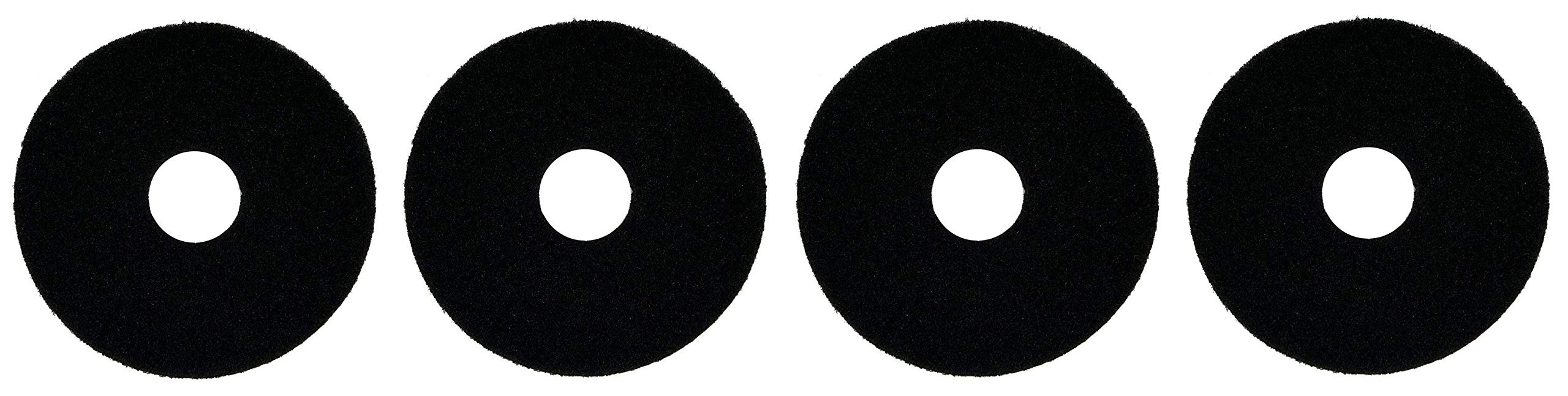 Oreck Commercial 437071 Strip Orbiter Pad, 12'' Diameter, Black, for ORB550MC Orbiter Floor Machine (Fоur Расk, Black)