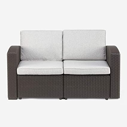 Pamapic Outdoor/Indoor All Weather Loveseat Furniture with Washable Seat  Cushions, In a Propylene Resin Plastic Wicker Pattern Patio Furniture Sets  ...