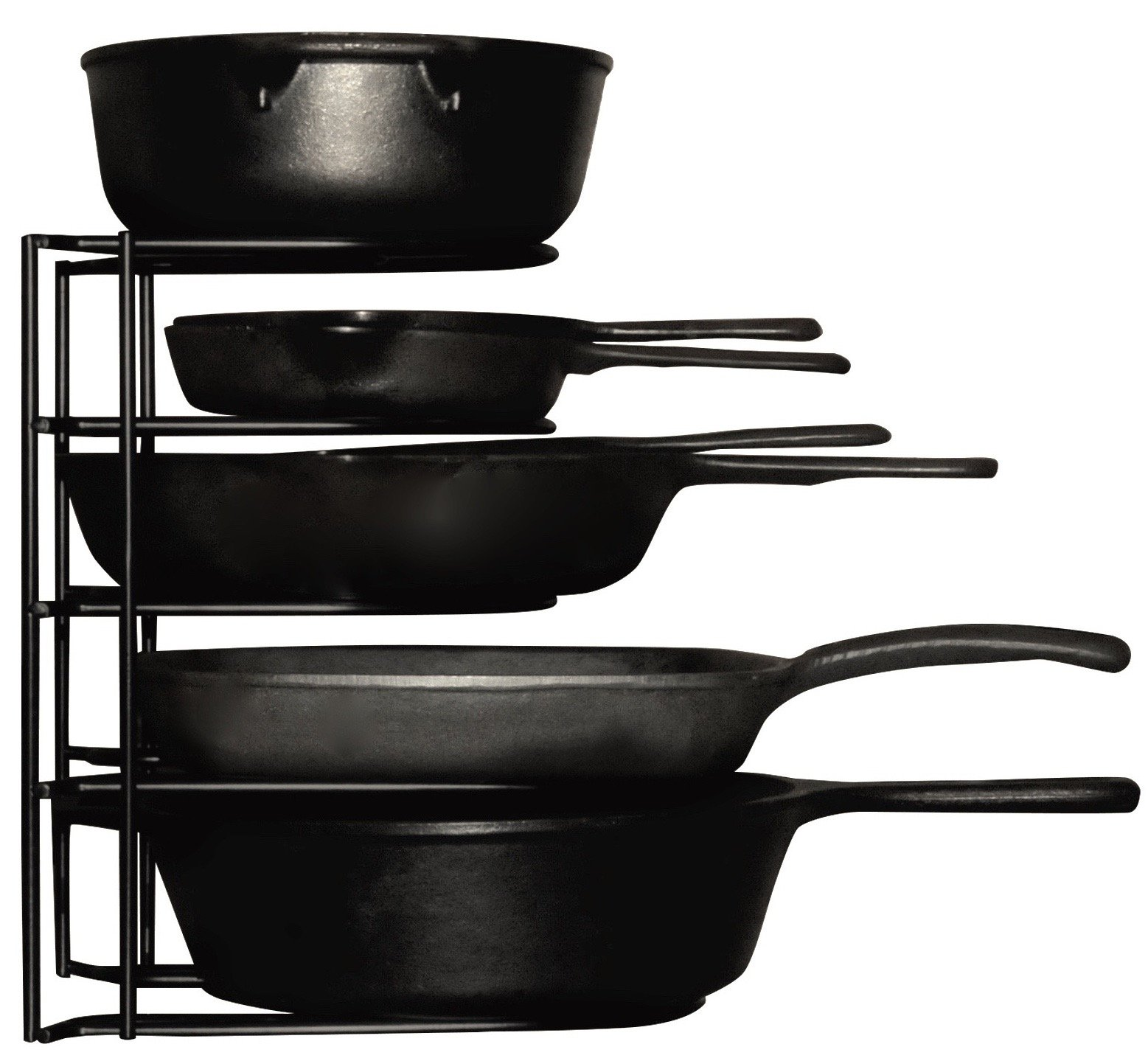Extreme Matters Heavy Duty Pan Organizer - Bottom Tier 1 Inch Taller for Larger Pans - No Assembly Required - Black by Extreme Matters (Image #2)