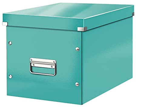 Leitz Caja de almacenaje cúbica, Tamaño grande, Turquesa, Click & Store, 61080051