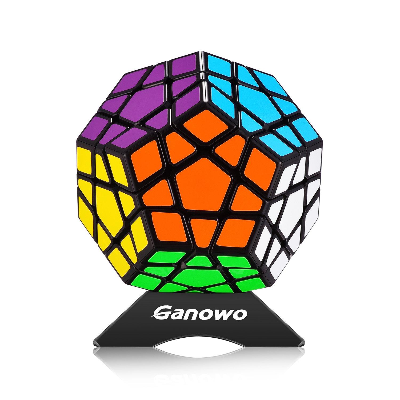 I-xun® Perfect Magic Cube Smooth Dodecahedron Cube Megaminx Cube Black 3-D Puzzles 3x3 Puzzles
