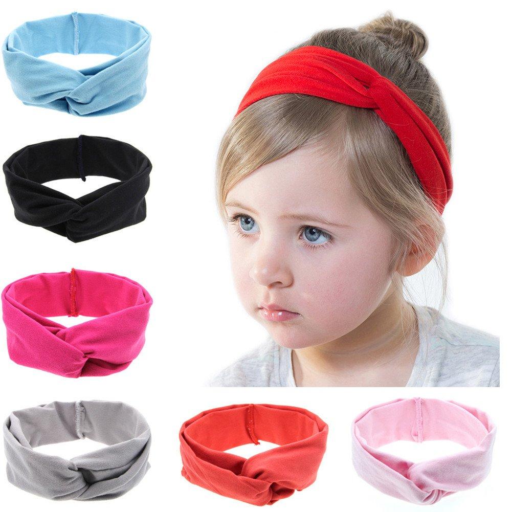 Roewell Baby Elastic Hair Hoops Headbands and Girl's Fashion Soft Headbands by Roewell