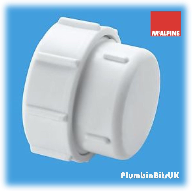 McAlpine S23U Waste Pipe Blank Cap-1.25 inch, White