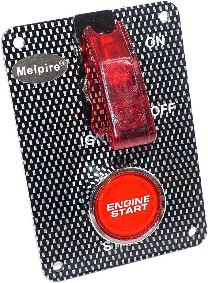 Meipire Dc 12 24v Racing Zündschalter Modifizierter Instrumentenschalter Startschalter Racing Netzschalter Für Rennsport Rennwagen Auto