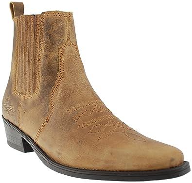 ankle cowboy boots mens
