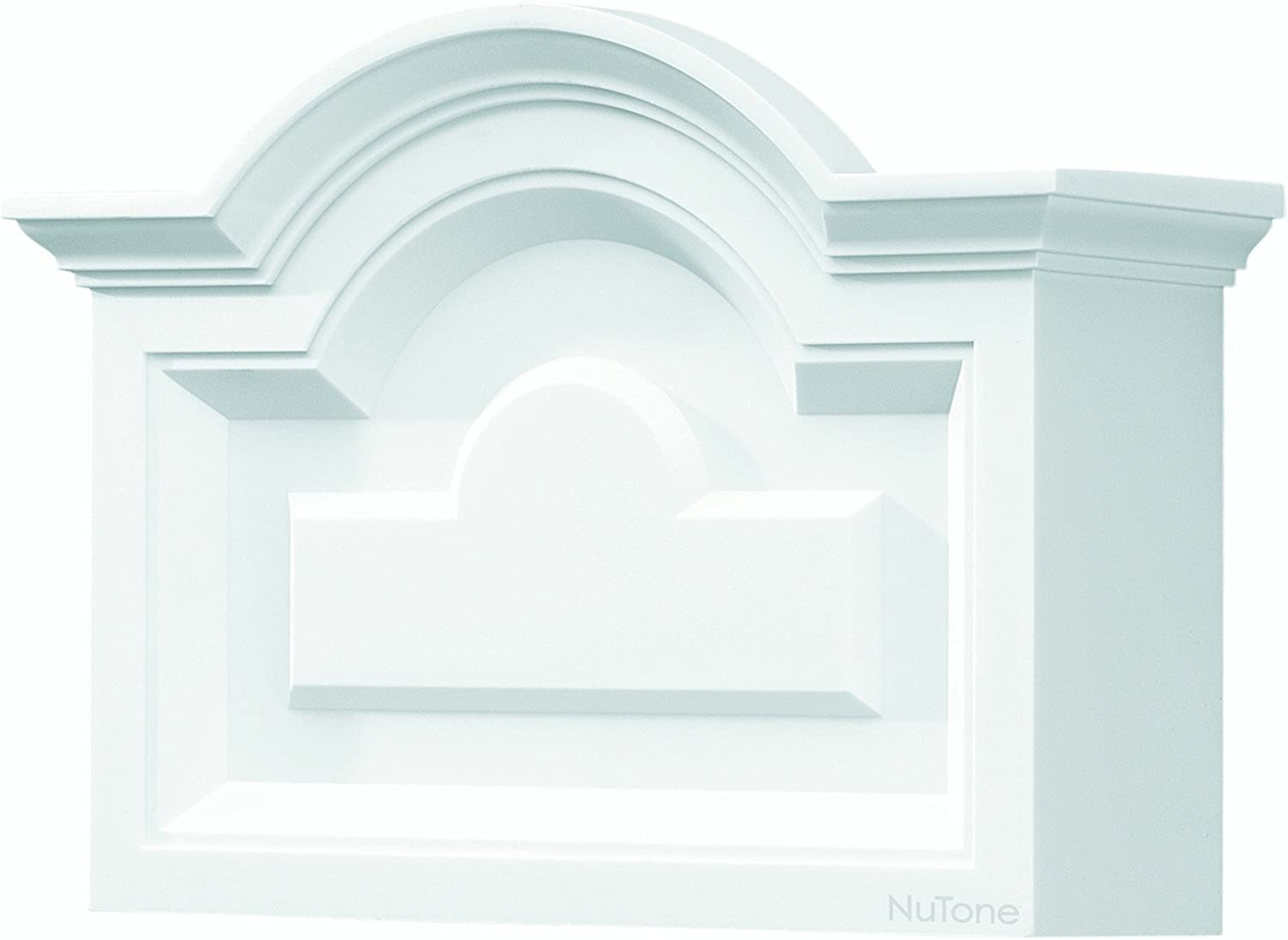 NuTone LA140WH Classic Arched Top Design Decorative Wired Two-Note Door Chime, White