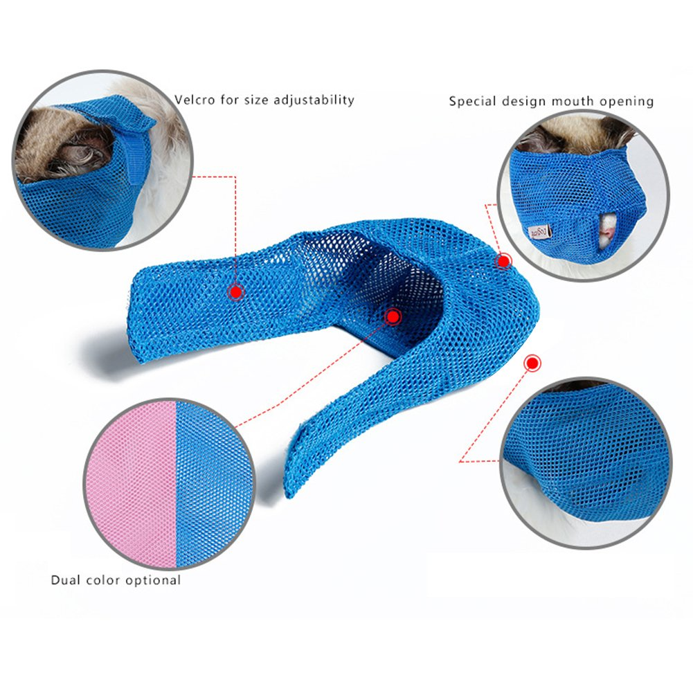 Amazon.com: yanbirdfx Breathable Mesh Lovely Cat Anti Bite Muzzle Travel Tool Bathing Bag Pet Supplies: Sports & Outdoors