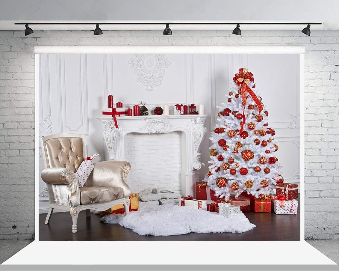 AIIKES 2.4x1.8M//8x6FT Arte de tela /Árbol de Navidad Fondo de Fotograf/ía Navidad tema Telones de Fondo de Fotograf/ía Estudio Fotogr/áfico 10-823