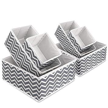 nouveau concept 4a515 743e9 Boîte de rangement en tissu pliable pour armoire, tiroir de placard,  commode, organiseur de tiroir en tissu, poubelles cubiques pour  sous-vêtements, ...