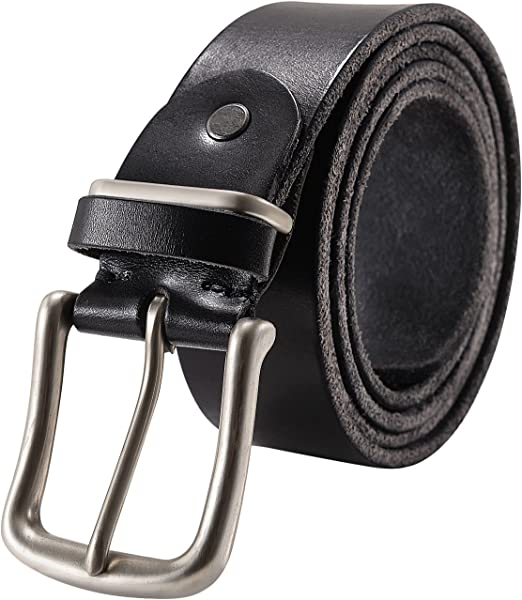 Mens Belt 100/% Real Leather Stitching Black UK Made Casual Jeans Trouser Wear