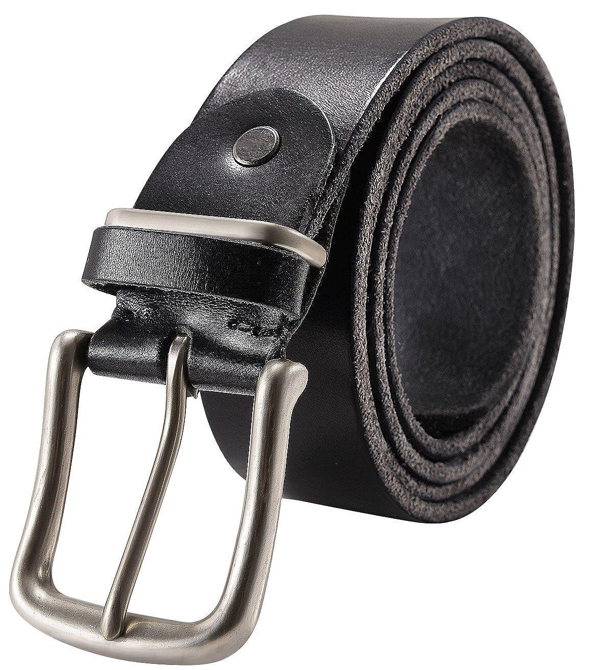 Amazon.com: Cinturón de cuero italiano suave de grano ...
