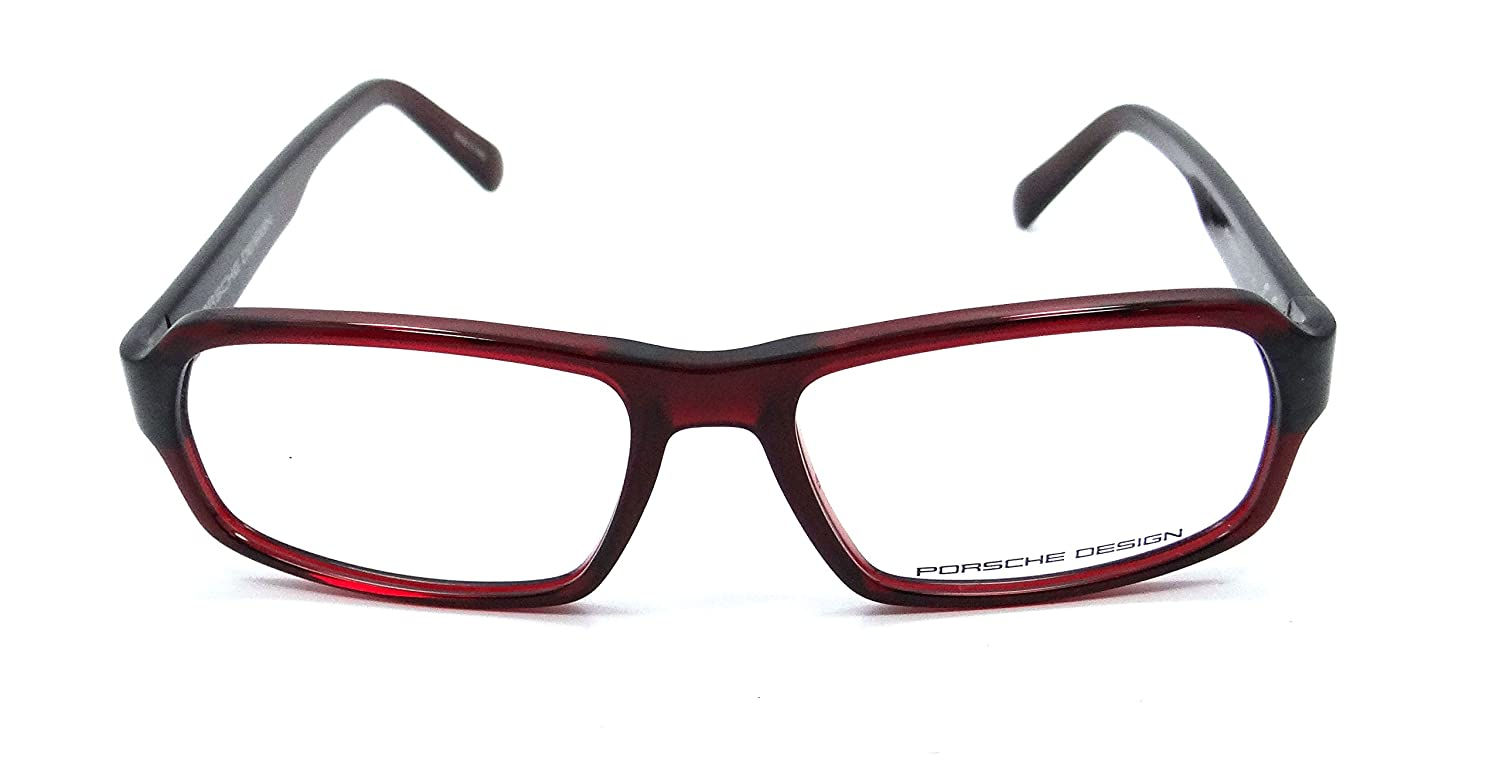 8c9d3d2c482 Porsche Design Rx Eyeglasses Frames P8215 D 55x16 Cherry Red Made in Italy   Amazon.co.uk  Clothing