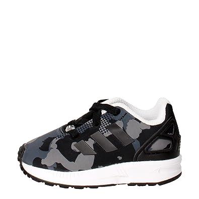 Shoes adidas Zx Flux C AQ1739 CarbonCarbonFtwwht Laced