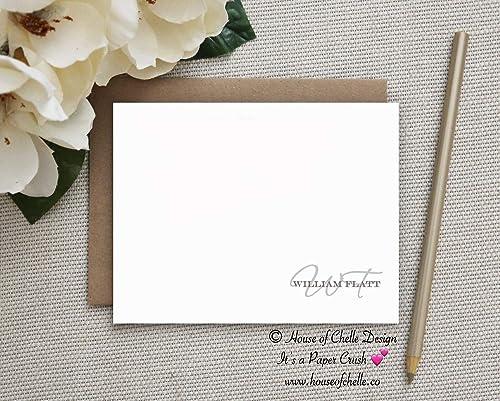 Personalized Thank You Cards \u2022 Modern Stationary \u2022 Womens Stationery Set \u2022 Notecards for Her \u2022 Gifts for Her \u2022 Set of 10 Caroline