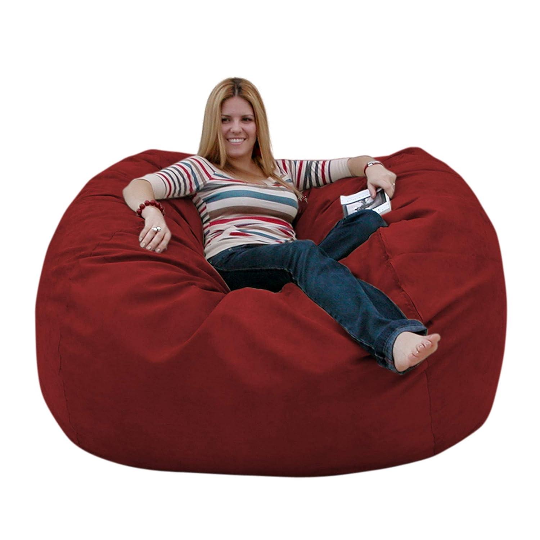 Cinnabar 5 feet Cozy Sack 4-Feet Bean Bag Chair, Large, Navy