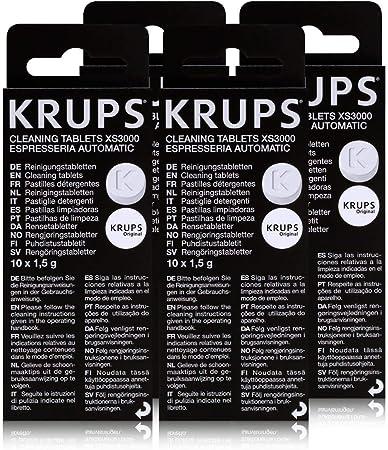 4 pastillas de limpieza KRUPS XS3000: Amazon.es: Hogar