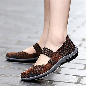 Mocasines De Malla Elásticos De Las Mujeres De SEVENWELL Zapatillas De Moda Zapatillas De Deporte Transpirables Slip-On