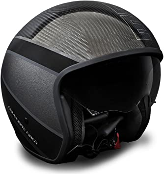Momo 10140510005 Casco Moto, Raptor Carbon, ML