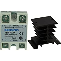 Inkbird Solid State Relay 40DA DC SSR Black Heat Sink for PID Thermostat Temperature Controller