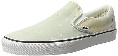 Vans Classic Slip-ON Classics Denim Barrio True White: Amazon.de ...