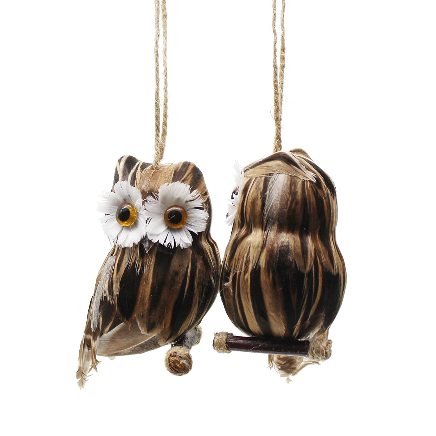 Yolococa 2pcs Christmas Tree Hanging Owl Decoration