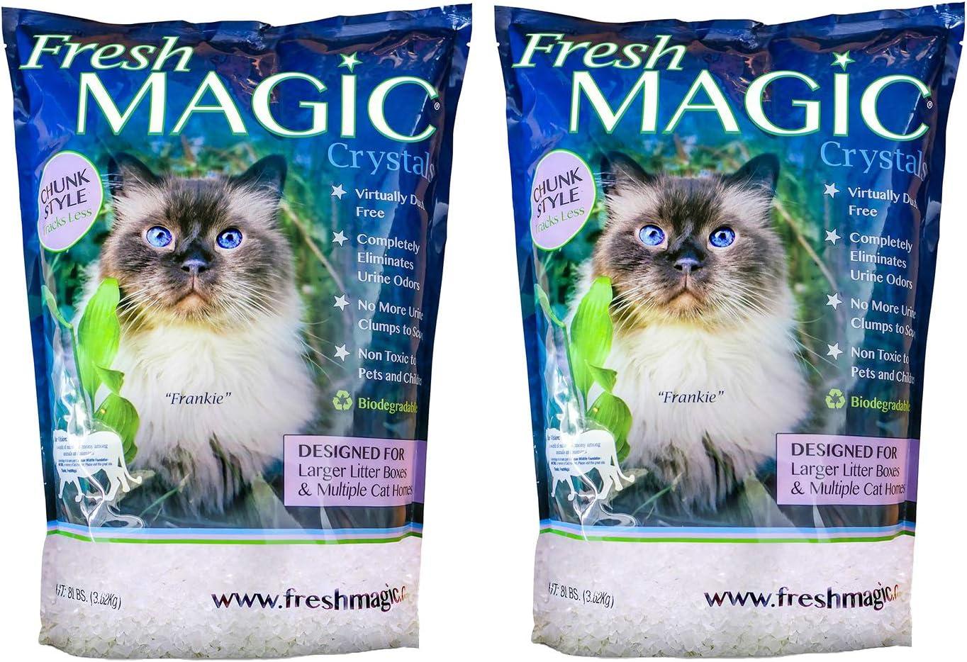 FreshMAGIC Arena de Cristal para Gatos de Estilo Grande, Bolsa de ...