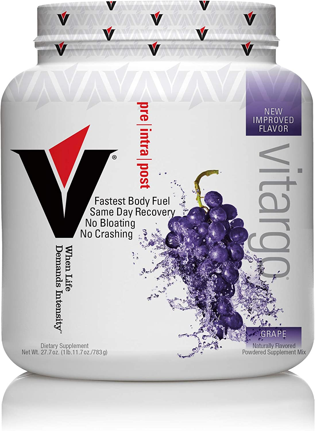 Vitargo Carbohydrate Powder | Feed Muscle Glycogen 2X Faster | 1 LB Grape Pre Workout & Post Workout | Carb Supplement for Recovery, Endurance, Gain Muscle Mass