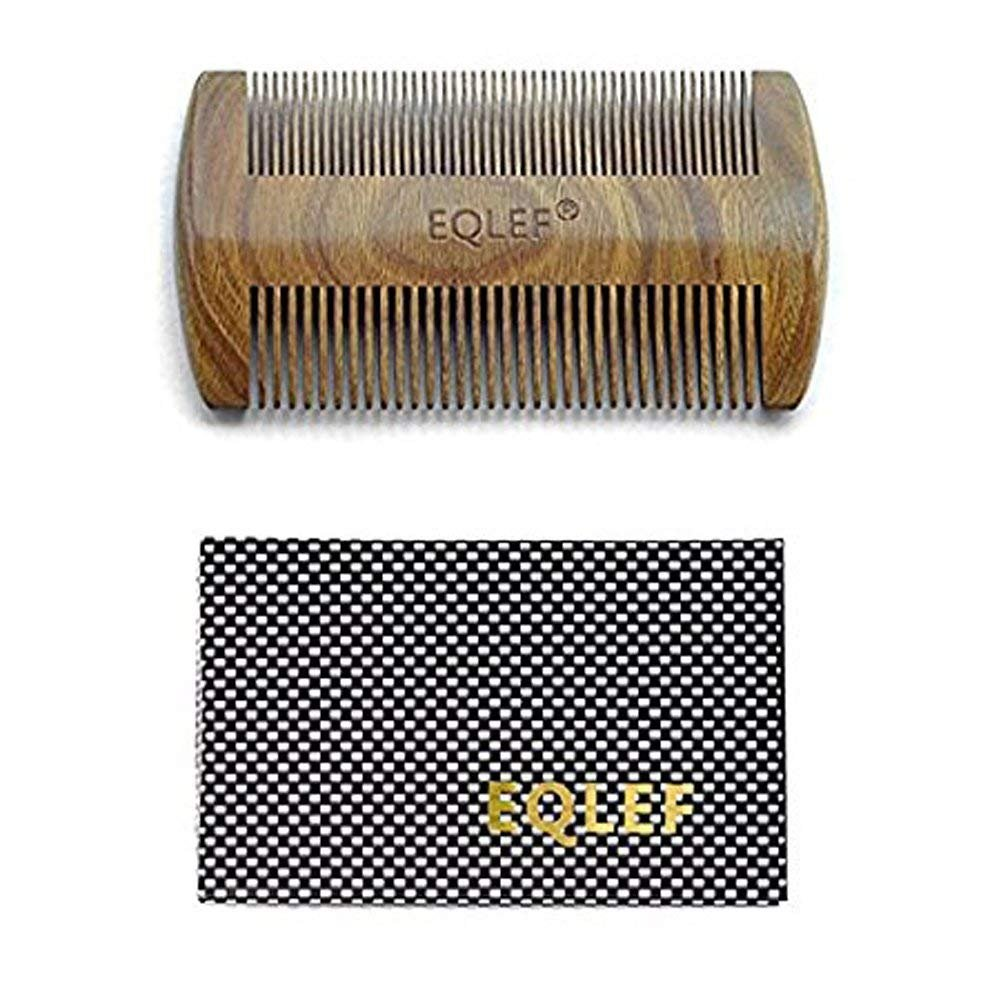 EQLEF® Green sandalwood no static handmade comb (13cm)