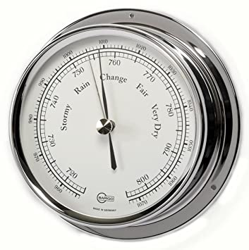 Bootsport Barigo Bootsport Thermometer Hygrometer Chrom Regatta Kleingeräte Haushalt