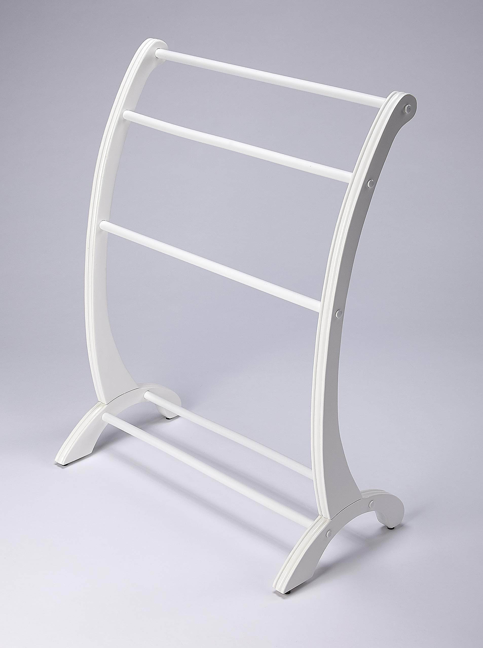 Nathaniel Blanket Stand in Glossy White