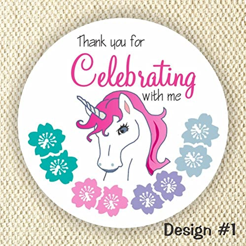 Unicorn party favor stickers unicorn birthday party stickers thank you stickers