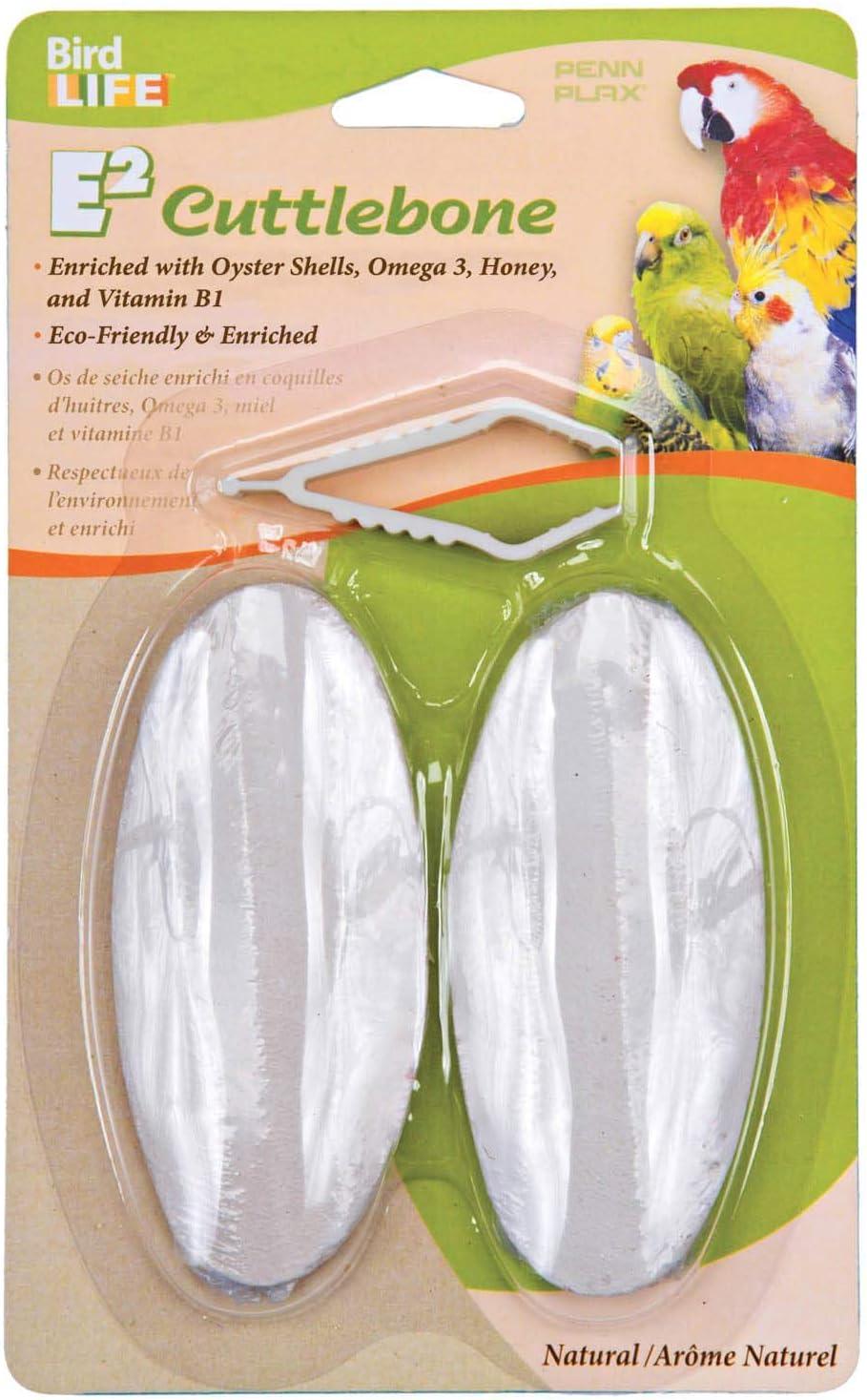 Penn Plax E2 Natural Cuttlebones, Pack Of 2 Cuttlebones