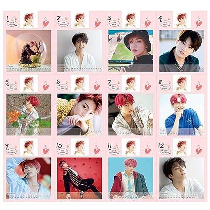 Teblacker BTS Desk Calendar 2019 to 2020 | Kpop Bangtan Boys Jungkook,  Jimin, V, Suga, Jin, J-Hope, Rap Monsters from 2019 to 2020 Desktop  Calendar