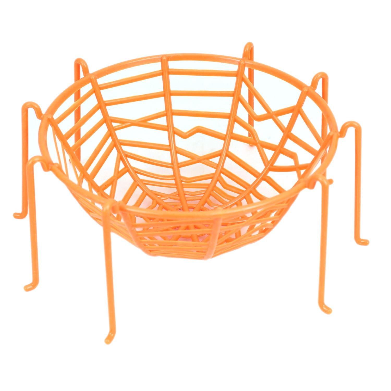 PMS 26CM SPIDERS WEB BASKET WITH LEGS 4ASSTD COLOURS W//HANG